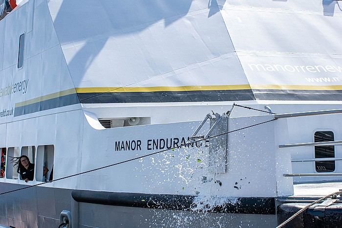 Manor Renewable Energy holds Naming Ceremony for their latest Wind Farm Service Vessel